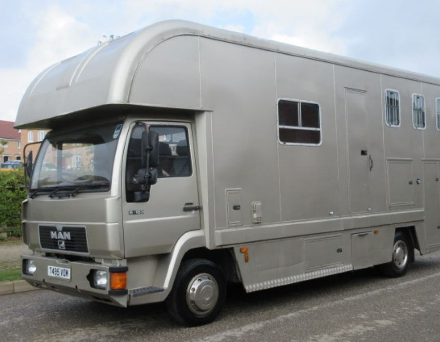 Ref 358 MAN 8163 Coach built by West Yorkshire horseboxes £11,450